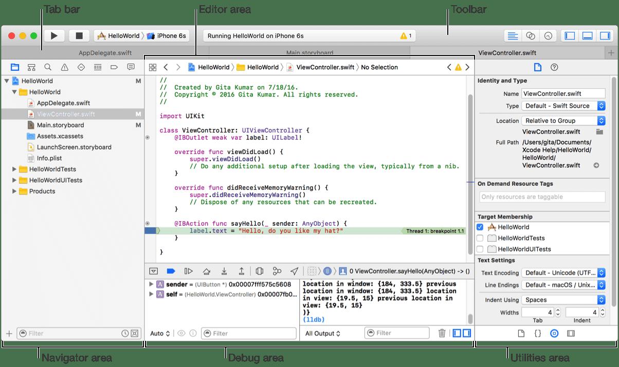 Xcode主界面